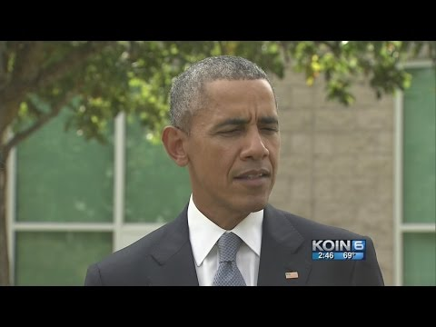 President Obama speaks at Roseburg High School