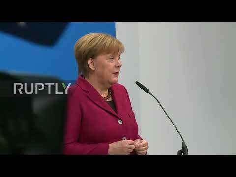 Germany: Merkel 'optimistic' and 'determined' prior to coalition talks with SPD and CSU