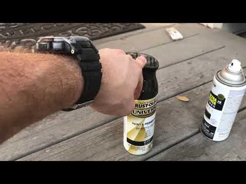 RUSTOLEUM RATTLE CAN SPRAY PAINT MERCEDES W140 s500 PERFECT MATCH BLACK