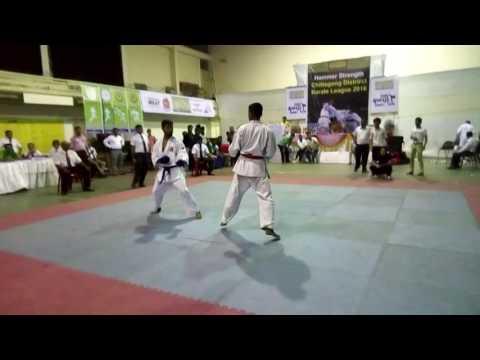 CJKS Chittagong District Karate League 2016 men's kumite