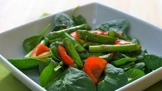 طريقة عمل سلطة السبانخ وصفات صحية بالمشروم والبيض من مطبخ ستات كافيه