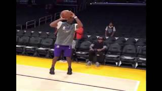 Rondo and Kendrick Perkins have words at Lakers practice
