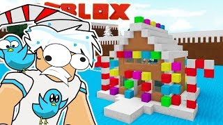 CANDY AND GINGERBREAD HOUSE BOAT / BUILD A BOAT TO TREASURE ROBLOX