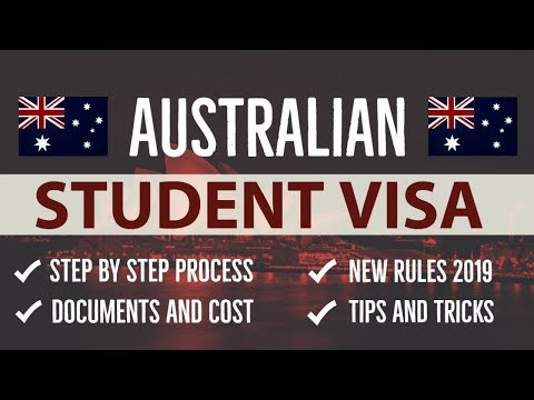 AUSTRALIAN STUDENT VISA 2019 | Step By Step Process | Documents | Costs