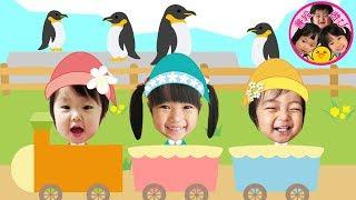 みんなで汽車に乗ったりどうぶつえんで大はしゃぎ! HUGっと!プリキュア ペンギン 3人きょうだい キュアマシェリコスプレ るんるんママ