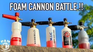 FOAM CANNON BATTLE !!  WHAT IS THE BEST FOAM CANNON ??