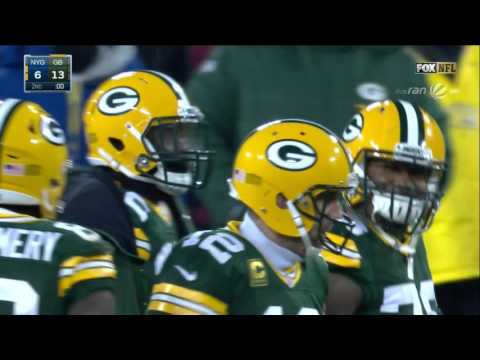 Aaron Rodgers hail mary Packers vs. Giants NFL Wildcardgame 2017 german commentary