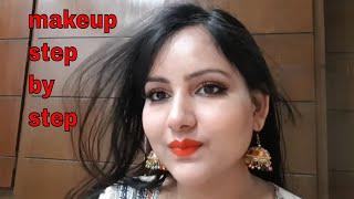 ईद स्पेशल मेकअप / Eid makeup tutorial look step by step for begginers - मेकअप कैसे करें