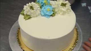 Украшение тортов | Как сделать съедобные цветы из крема