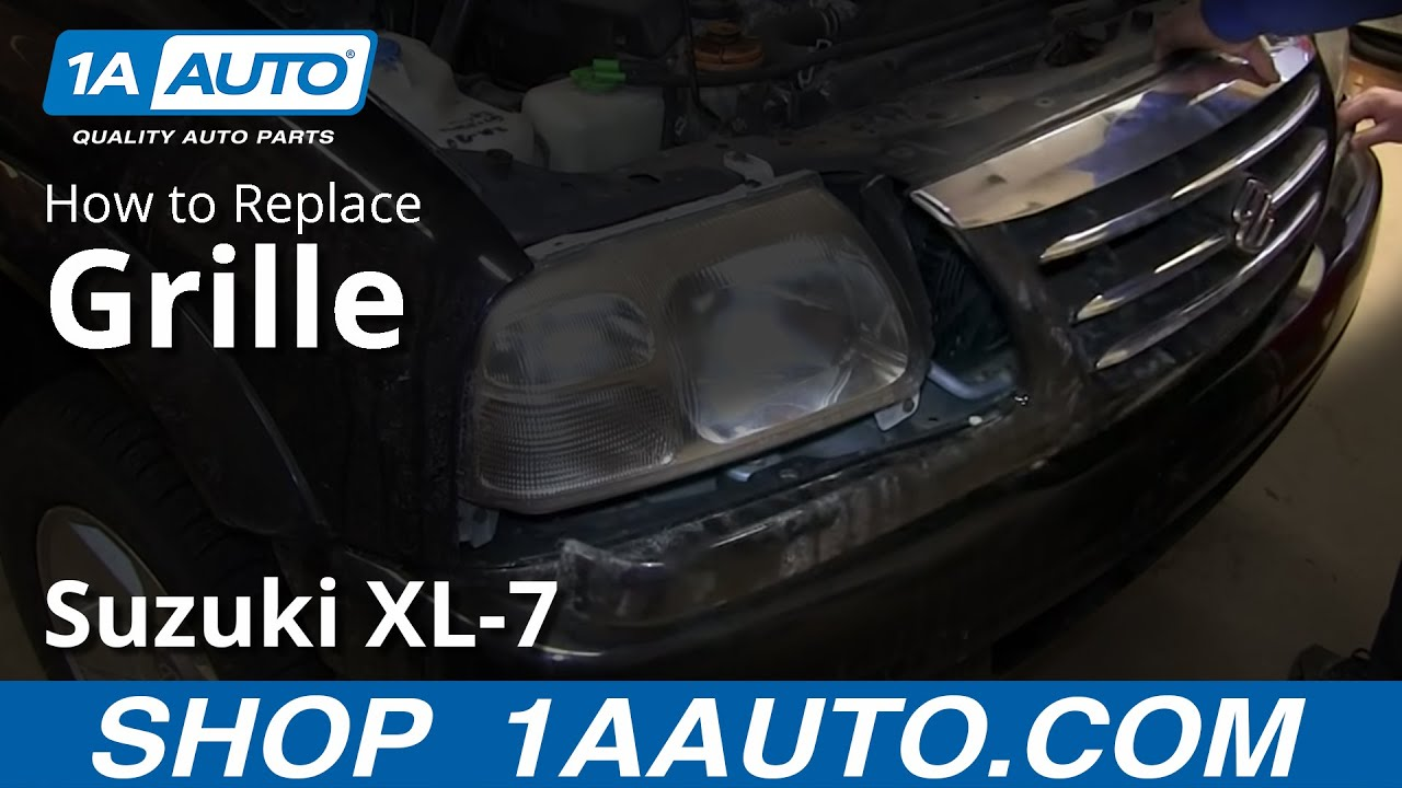 how to install replace front grille suzuki xl 7 [ 1280 x 720 Pixel ]