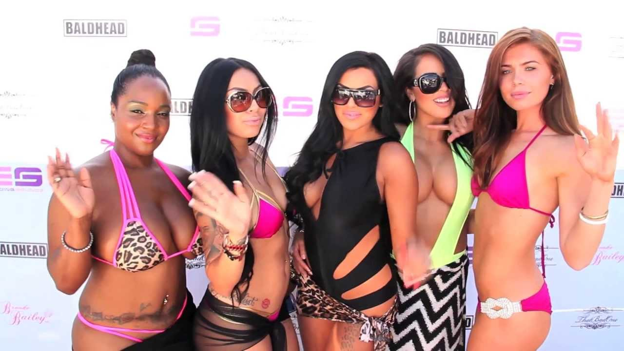 brooke bailey of basketball wives la at a sexy pool party! - youtube