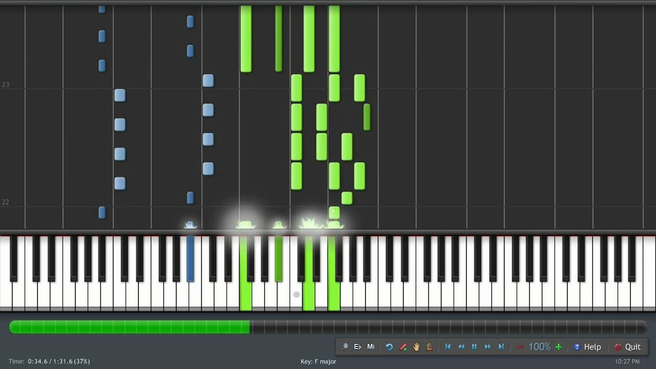 Inuyasha Kimi Ga Inai Mirai Synthesia Piano Tutorial Midi 100
