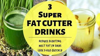 3 SUPER FAT CUTTER DRINKS | DIY Weight Loss Drink | Lose 5 Kgs in 5 Days | Morning Routine