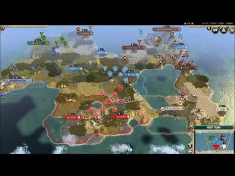 Civilization V Timelapse: AI Epic Medieval War