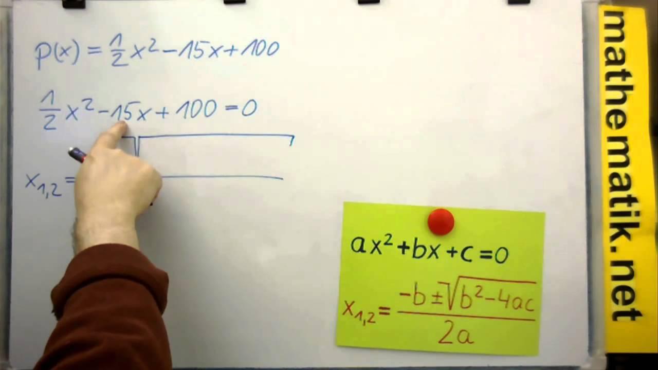 Linearfaktorenzerlegung - Beispiel 1 - Quadratisches Polynom mit ...