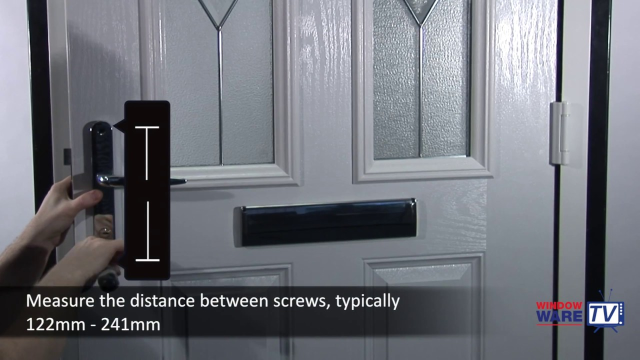 How to change, remove and fit a door handle to a uPVC or composite ...