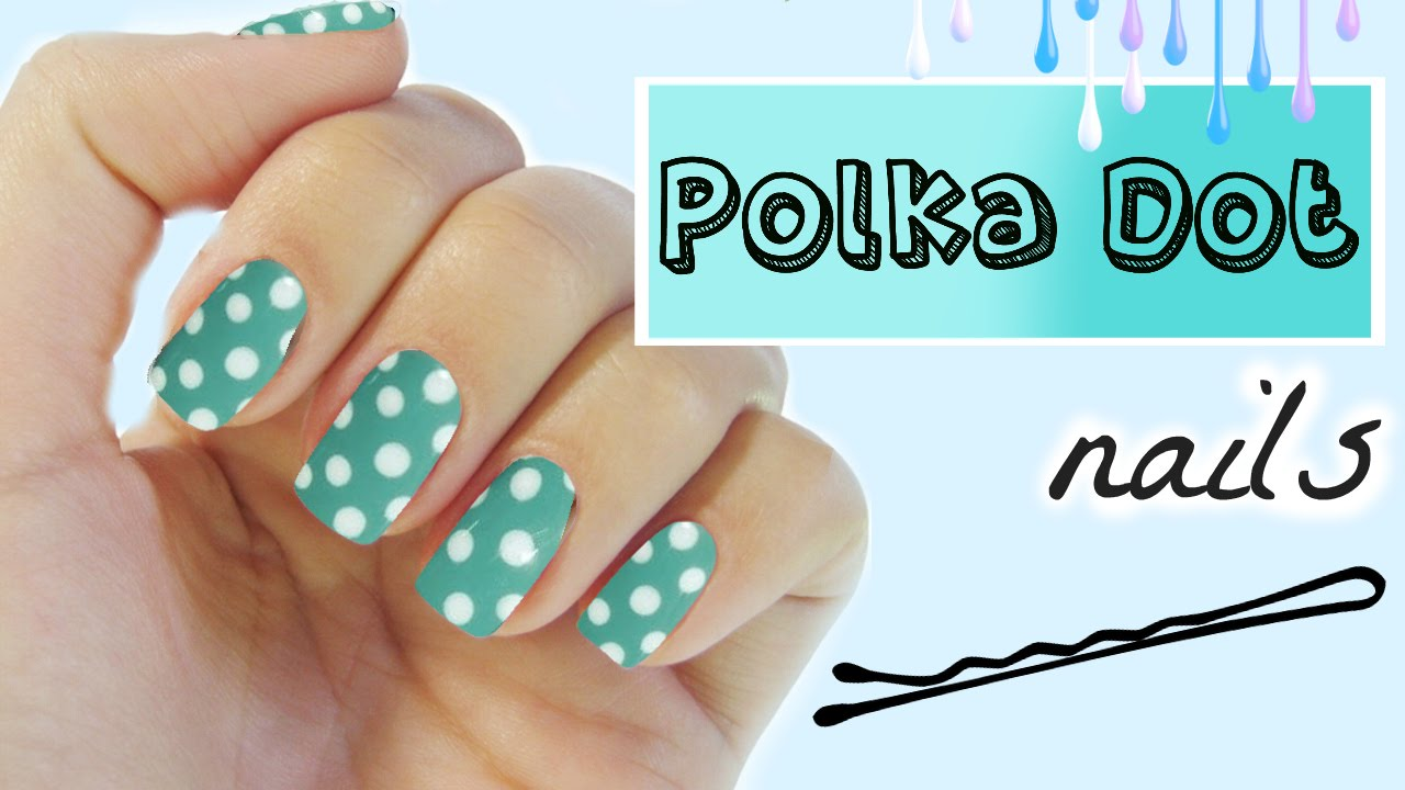 Polka Dot Nails With A Bobby Pin No Dotting Tool