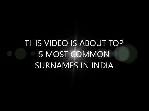 TOP 5 MOST COMMON SURNAMES IN INDIA
