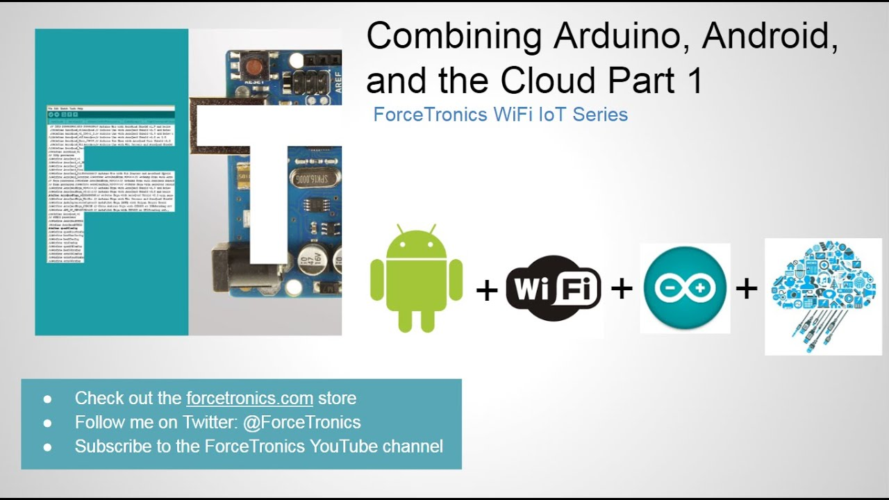 Combining arduino android and the cloud part youtube