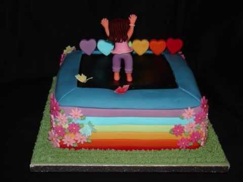 Trampoline Cake Decorations