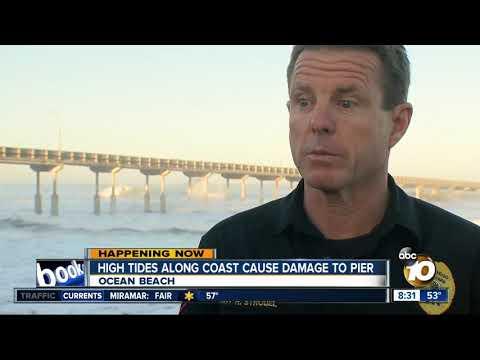 High tides along coast cause damage to OB Pier Mp3