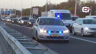 Vele hulpdiensten naar een aanrijding in de Heinenoordtunnel bij Barendrecht!