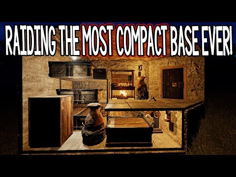 Raiding The MOST COMPACT Base I'VE EVER SEEN! (Rust)