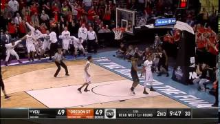 Oregon state with a fast break dunk where gary payton ii rocks the rim to take 51-49 lead over rams.watch highlights, game recaps, and much more from t...