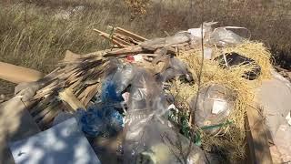 Грузовики вывезли на Кумыску строительный мусор с документами