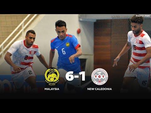 MALAYSIA 6 - 1 NEW CALEDONIA   INTERNATIONAL FUTSAL FRIENDLY MATCH HIGHLIGHTS