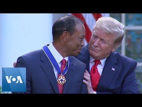 Young Scholar - Tiger Woods Awarded By Donald Trump