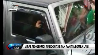 Movie Viral Pengemudi Rubicon Tabrak Panitia Lomba Lari from