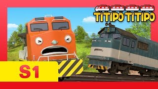 Titipo S1 E10 l Berny's great talent l Save the train from falling! l Titipo Titipo