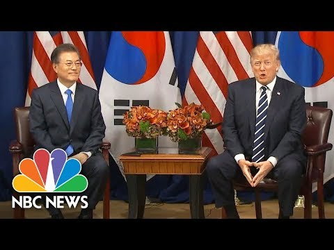 Watch President Donald Trump React To South Korean Presidents  Use Of Deplorable!