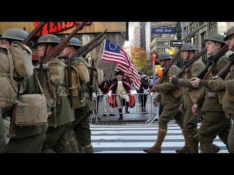 Thousands march in New York City Veterans Day Parade