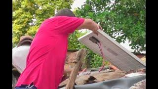 Con paneles solares, abogado brinda luz a humildes familias de La Dorada