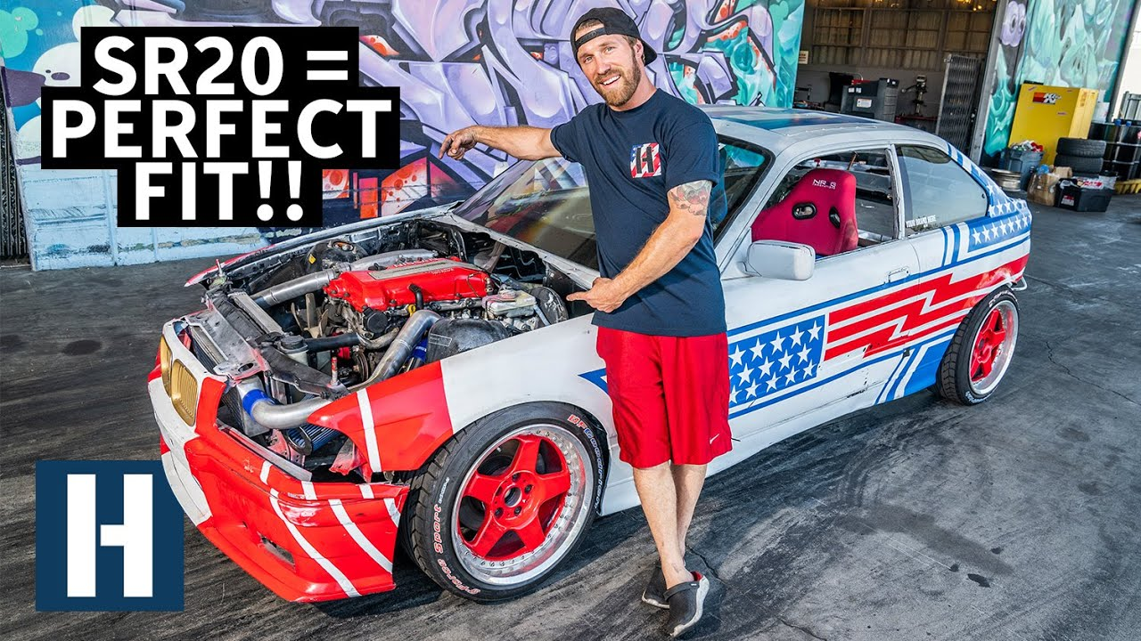 Nissan SR20 Fits Perfectly in Sh*tcar! Our Cheap BMW Gets a Serious