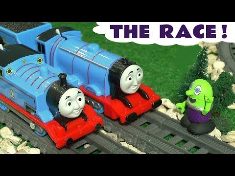 Thomas The Tank Engine race against Gordon - Toy train story with the funny Funlings for kids TT4U