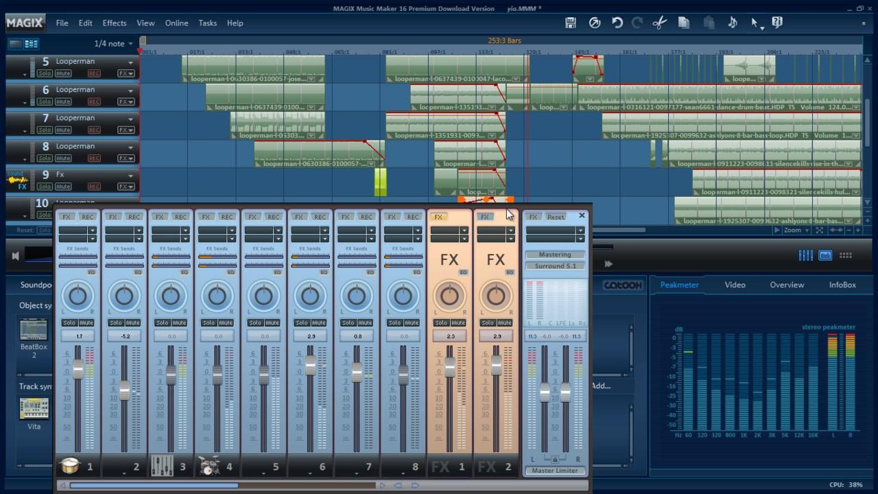 Magix Music Maker & Looperman - Mix Mix 125 bpm