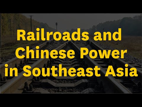 David Lampton On China's Effort To Create An Intercountry Railway System