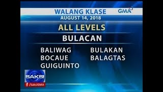 Saksi: Class suspension (August 14, 2018)