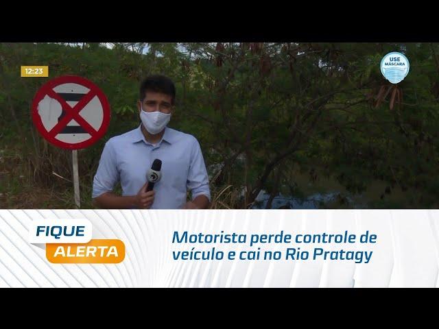 Motorista perde controle de veículo e cai no Rio Pratagy, no Litoral Norte Alagoano