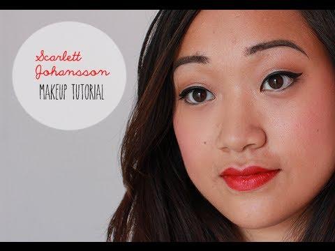 s johansson makeup tutorial for monolid eyes maquillage s johansson pour yeux asiatiques. Black Bedroom Furniture Sets. Home Design Ideas