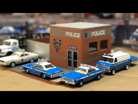 First Look | 1/64 NYPD Central Command Hot Pursuit Greenlight Collectibles Diorama