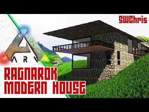 Modern ARK Hill House! :: Exploring ARK Ragnarok Official Map :: Awesome ARK Base Locations