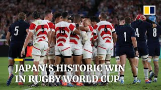 Japan beat Scotland to reach Rugby World Cup quarter-finals