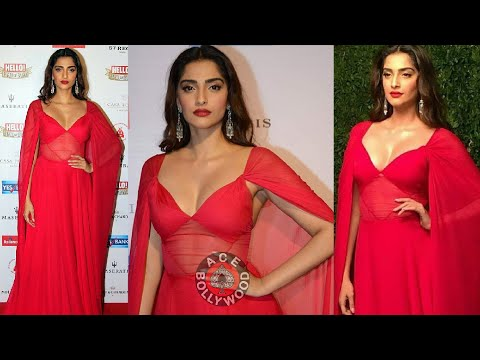 Sonam Kapoor Beautiful Red Dress At Hall Of Fame Awards Youtube