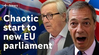 Brexit Party turn backs on EU 'anthem' – amid No Deal Brexit warnings