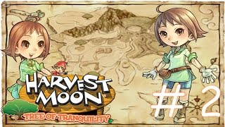 Harvest Moon Tree of Tranquility Walkthrough Part 2 - Work & My New House