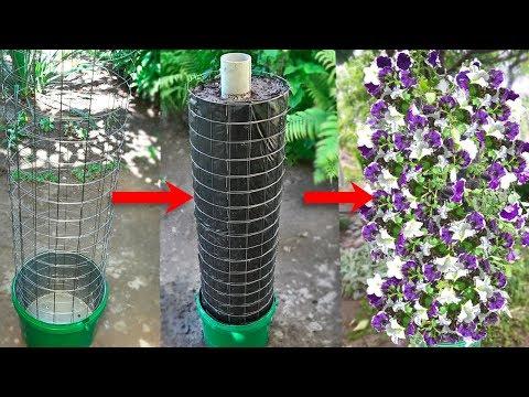 Вертикальный цветник-клумба для дачи